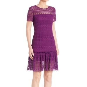 NWT Ellie Tahari Lacey Dress in Garnet Size 4